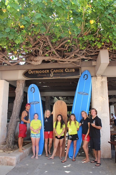 2016 Outrigger Surfboard Sign