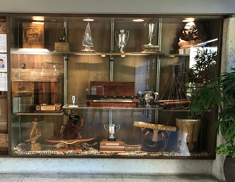 2017 Outrigger Canoe Club Lobby Trophy Case