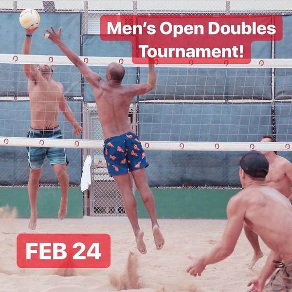 2019-02-24 Men's Open Doubles Tournament