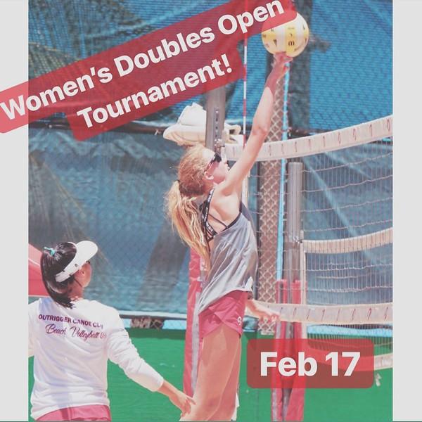2019-02-17 Women's Open Doubles Tournament