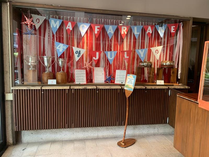 2020 Macfarlane Regatta Trophy Display