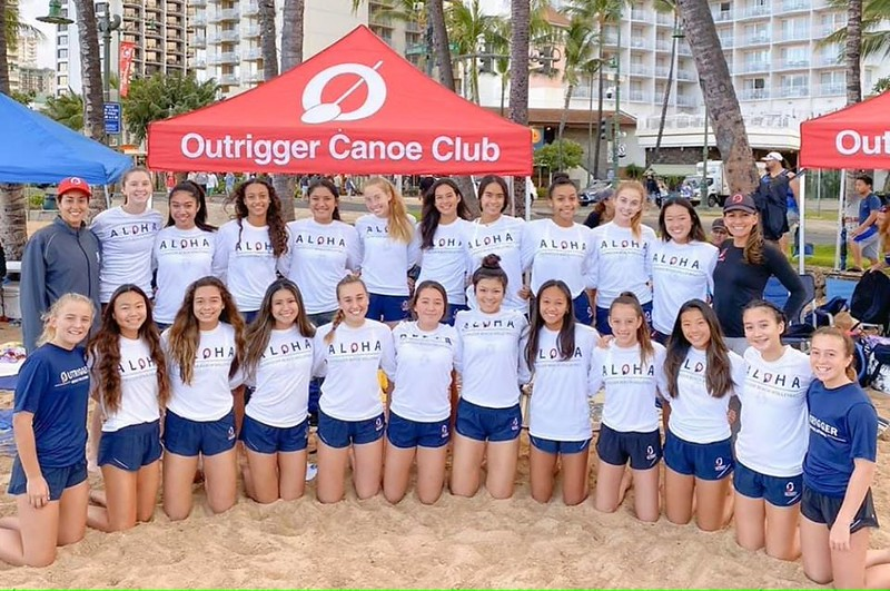 2020 Outrigger Girls Sand Volleyball Team