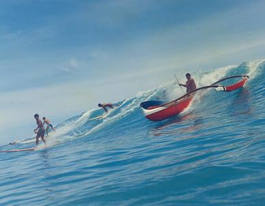 1964 Fred Hemmings Jr. Canoe Surfing