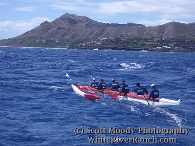 Kikaha Men's first Molokai crossing, 2005. See http://KikahaMolokai05.blogspot.com for more information, and the gallery under outrigger.