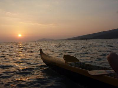Sunset and Hui Nalu's Canoe