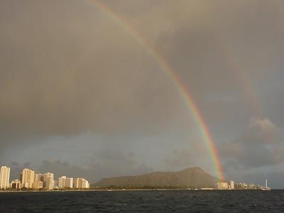 Double Rainbow Over Diamond Head