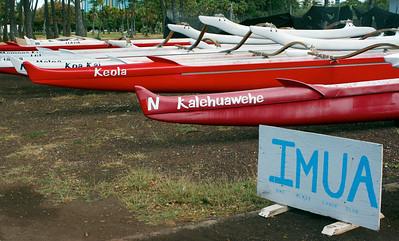 Koa Kai Canoe Club's Outrigger Canoes