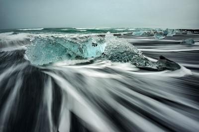 Iceberg on Iceland's Diamond Beach