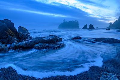Ruby Beach at Blue Hour