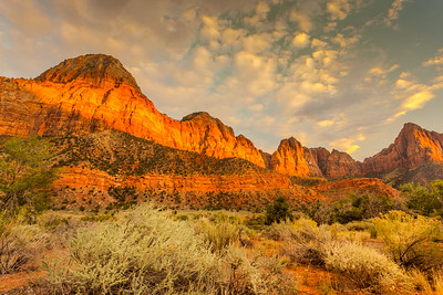 Sunset on the Watchman