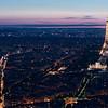 La Tour Eiffel with searchlight