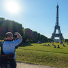Photographing a Paris icon.