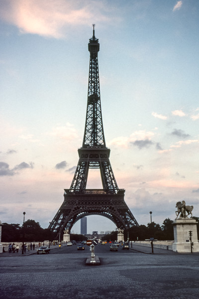 La Tour Eiffel viewed from the opposite side in 1979.