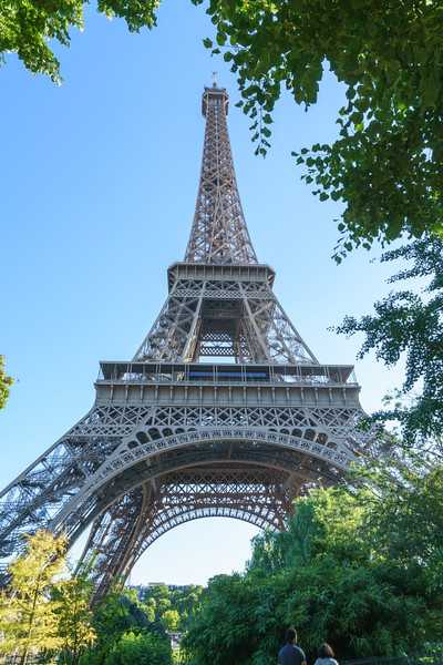 La Tour Eiffel viewed from the north side.