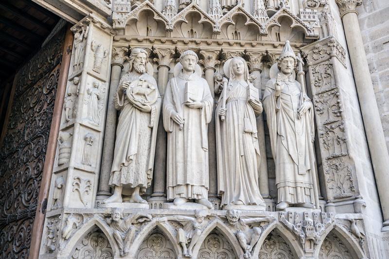 John the Baptist, Stephen, Genevieve and Pope Sylvester