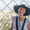 Naomi as seen from the top of La Tour Eiffel.