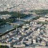 Another view of la Seine with Le Grand Palais and Place de la Concorde in the background.