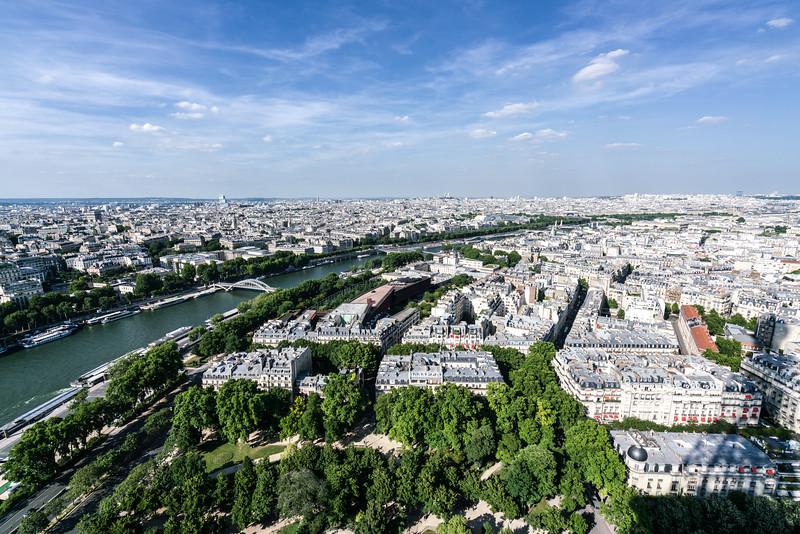 Paris and La Seine.