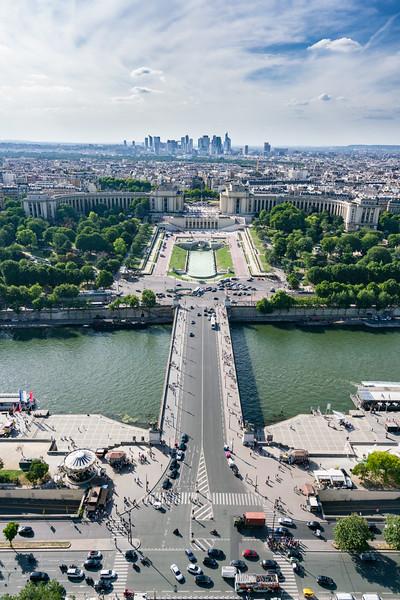 Jardins du Trocadéro as seen from La Tour Eiffel.