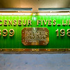 Plaque of the company that provided some of the elevators for La Tour Eiffel.