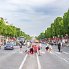 Looking back from L'Arc de Triomphe on the Avenue des Champs-Élysées.