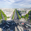 Shadow from L'Arc de Triomphe starting to get bigger.