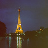 La Tour Eiffel on la Seine in 1979.
