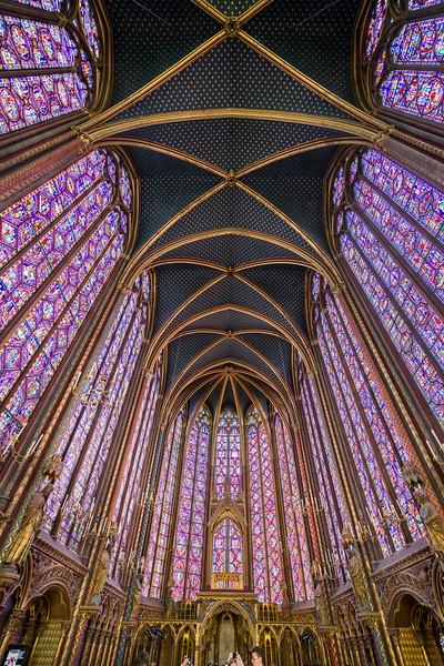 The upper chapel.