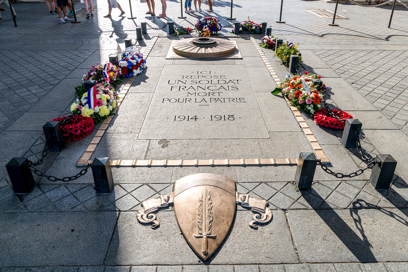 """""""Here rests a French soldier deat for the homeland"""" - France's tomb of the unknown soldier."""