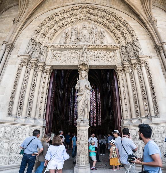 Portal to upper chapel.