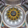 Under the dome, looking up.