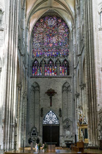 View of the north rose window.