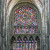 Closeup of south rose window.