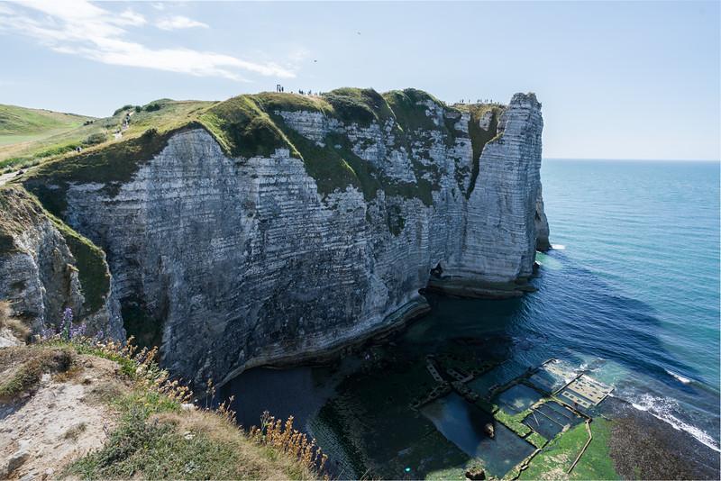 Part of the downstream cliffs.