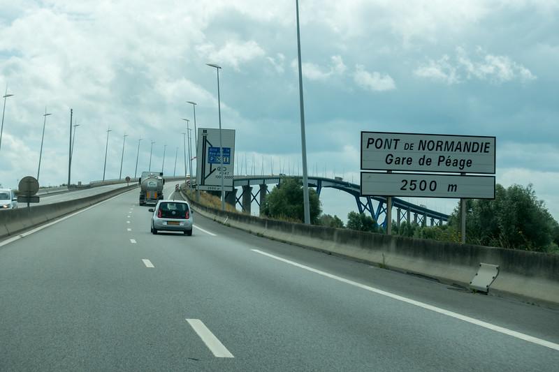 Approaching Normandy Bridge.
