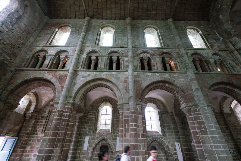 One of the walls within the abbey.