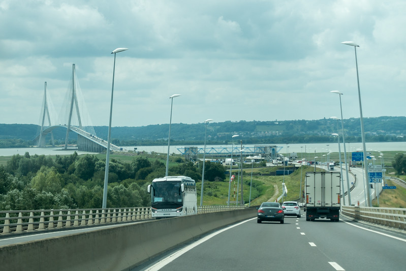 Bridge (and toll plaza) sighted.