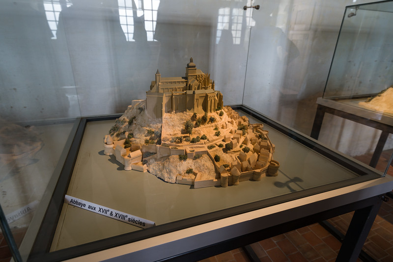 Mont St. Michel through the ages - the 17th and 18th centuries.