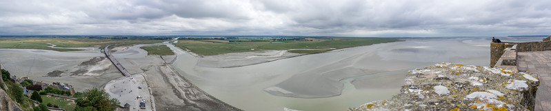 View to the west from the abbey on Mont St. Michel.