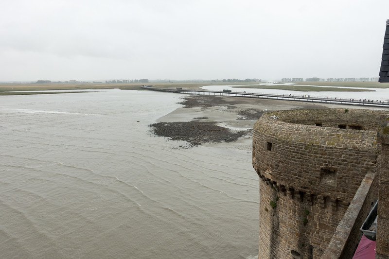 View from our hotel room window - morning high tide.