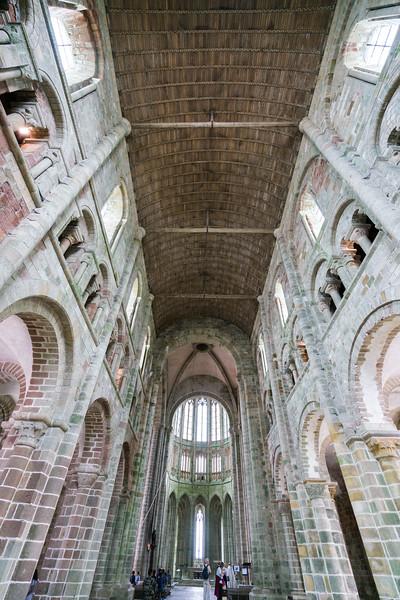 Inside St. Michael's abbey.