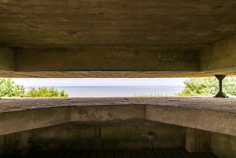 Observation slit in the command bunker.