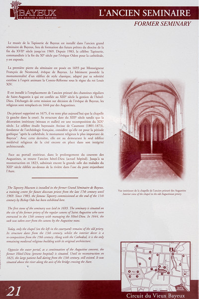 Tapistry Museum information.