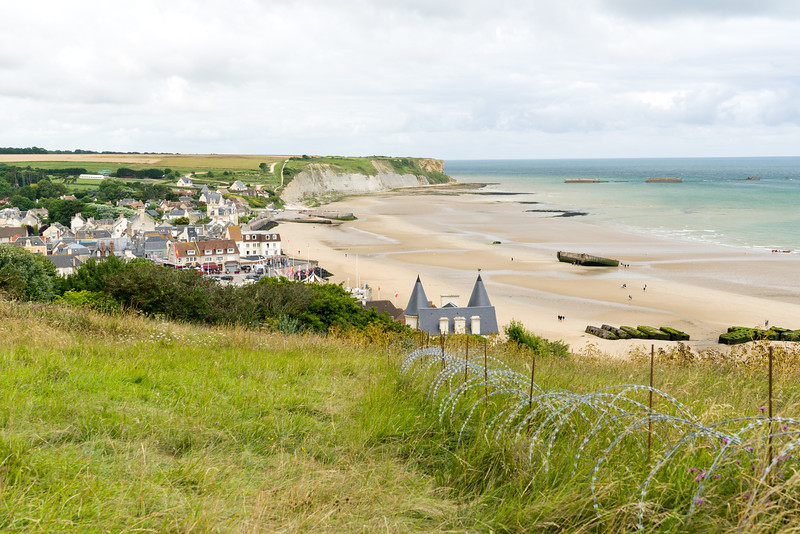 Arromanches and its beach.