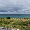 Panorama of what's left of the port build at Arromanches.