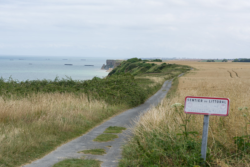 Looking back at Arromanches.