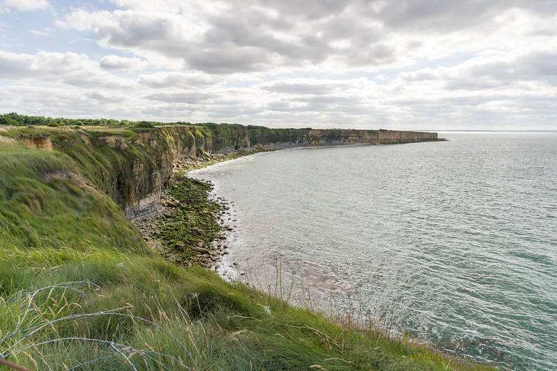 The cliffs to the west of the point.