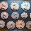 Part of the collection of 18th century medallions by Jean-Baptiste Nini, displayed in the King's Room.