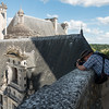 Bryan, taking a picture of some of the chimneys on the northeast portion of Chambord.