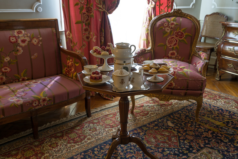 The little red Boudoir was a small sitting room for the ladies in contrast to the men's smoking room.